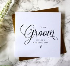 Pen a special pre-wedding message to your new husband with this simply styled 'To My Groom on our Wedding Day' card.Also Available To The Best Man To My Mum and Dad To My Mum To My Dad To My Mother and Father-in-Law Thank you for making our day the best day ever If you need a different title like sister, brother, mother, father, step mum etc, just add this in the box titled 'other' If you order more than one card, the postage cost will remain the same, you will not be charged postage per…