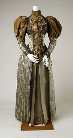 Dress Date: ca. 1894 Culture: probably American Medium: silk Accession Number: 35.134.13a, b