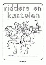 Workbook knights and castles - in front - kunst Medieval Fantasy, Craft Activities For Kids, Pre School, Coloring Pages, Fairy Tales, Castle, Teacher, Letters, History