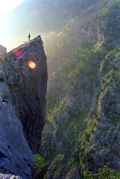 Cabrales, Asturias, Espanya (This cliff is typical of the roads we traveled in Asturias-L)