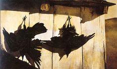 """Andrew Wyeth """"Woodshed"""", 1944"""