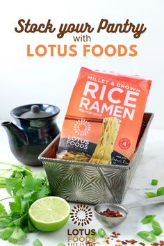 Stock your pantry with Lotus Foods gluten free rice and noodles! Read more.. Rice Dishes, Veggie Dishes, Pad Thai Noodles, Ramen Noodles, Ramen Recipes, Gluten Free Rice, Good Food, Awesome Food, How To Cook Rice