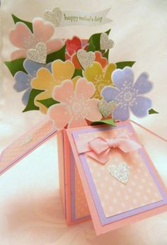 card in a box .. Want to learn how to make these. They are so pretty and versatile.