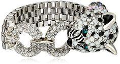 Betsey Johnson Snow Leopard Multi-Chain Bracelet - http://www.sparklingheaven.com/betsey-johnson-jewelry/betsey-johnson-snow-leopard-multi-chain-bracelet/ - Betsey Johnson