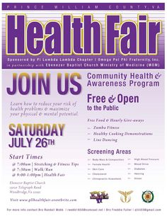 2014 Health Fair - Pi Lambda Lambda Chapter, Omega Psi Phi Fraternity
