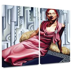'La Vie en Rose' by Catherine Abel 2 Piece Painting Print Gallery-Wrapped on Canvas Set