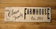 Personalized Farmhouse Decor Primitive Wood by RusticlyInspired