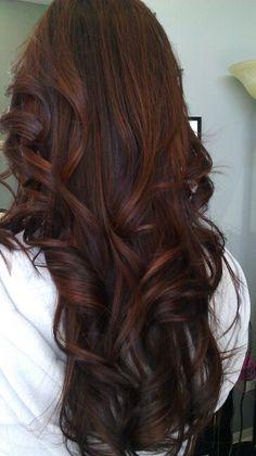 brunette hair 66 Super Ideas For Hair Balayage Red Copper Brunettes Brown Hair Balayage, Brown Ombre Hair, Hair Highlights, Peekaboo Highlights, Purple Highlights, Brown Hair Shades, Light Brown Hair, Dark Copper Hair, Dark Red Hair With Brown