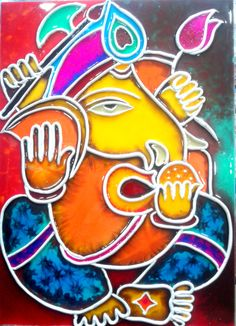 paintings-charcoal acrylic,stain wood and murals Mural Painting, Mural Art, Painting On Wood, Murals, Acrylic Paintings, Art Paintings, Ganesha Painting, Ganesha Art, Clay Ganesha