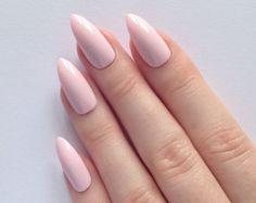 Pastel pink stiletto nails Nail designs Nail by prettylittlepolish