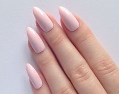 Pastel pink stiletto nails Nail designs Nail by prettylittlepolish