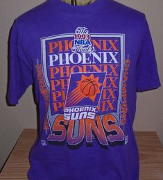 FREE Shipping vintage 1993 Phoenix Suns Basketball t shirt Large by vintagerhino247 on Etsy
