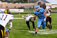 Salem Hills hosts Payson Thursday night: http://www.paysonchronicle.com/south-county-sports/ Pictured: SHHS's Garrett Lloyd (46) Photo by Todd Phillips