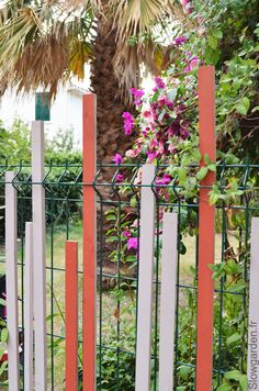 Idée pour habiller un grillage par Slowgarden / fence decoration by ...