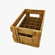 maya wood beer crate - Wood Beer Crate With Beer... by wolfgraf