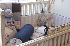 Glam Baby French Cot with Vespa inspired linen.
