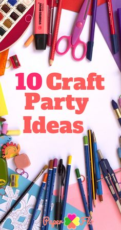 10 Craft party ideas for adults or kids. It's easy to learn how to throw a craft party. These are creative and fun alternative ideas for a church fundraiser, girl's night or charity organization function. Sleepover Party, Tween Party Games, Brunch Party, Adult Crafts, Crafts For Kids, Arts And Crafts, Craft Projects For Adults, Crafts To Sell, Easy Crafts