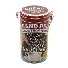 Boîte à café ronde « Tasse pour gaucher » - Natives - Déco rétro & vintage