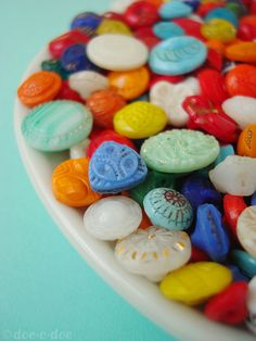 Vintage glass button envy <3