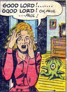 From Fawcett's short lived run at horror and their comic Worlds of Fear. The theme in this one being sometimes, over time, things change so a couple no longer sees things eye to eye.
