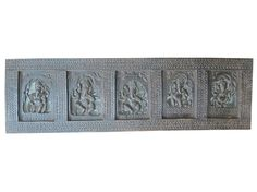 Hey, I found this really awesome Etsy listing at https://www.etsy.com/listing/203232243/carved-headboard-five-nritya-ganesha
