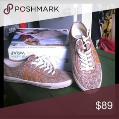 AUTHENTIC MK Tennis Shoes w/logo Beautiful canvas pair of Logo MK Sneakers. Extremely comfortable shoes! If I didn't tell you, you'd hardly know I even put these on! Gorgeous! You will be the envy of every MK fan! Michael Kors Shoes Sneakers