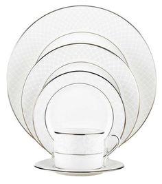 Venetian Lace Place Setting 5pc, White/Silver - casa.com, this is the winner. I'll start saving up for it....now. :)