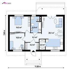 Z72 to wyjątkowy dom z kategorii projekty domów na wąską działkę House Plans, Floor Plans, House Design, How To Plan, Minecraft, Home Decor, Interiors, Houses, Projects