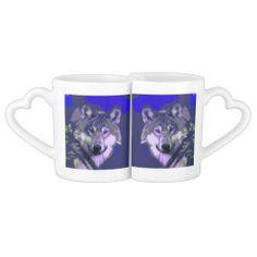 #Wolf_038_+_039 #Lovers'_Mug_Set #JAMFotoWorms #Zazzle.com