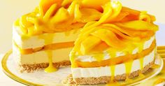 The fresh mango in this cheesecake makes it taste absolutely sensational.