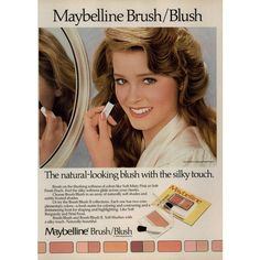 Maybelline Brush/Blush 1983 - MyFDB ❤ liked on Polyvore featuring ad campaign
