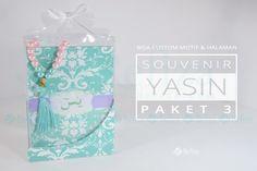 Souvenir yasin paket 3 untuk berbagai acara spesial anda.