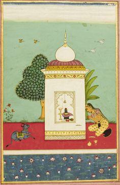 An illustration from a Ragamala series: Bhairavi Ragini, Deccan, Hyderabad, circa 1700
