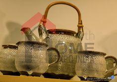 Handmade ceramics with rustic detailing... at The Home Expo India, 2015 #homeexpo #tableware #ceramics