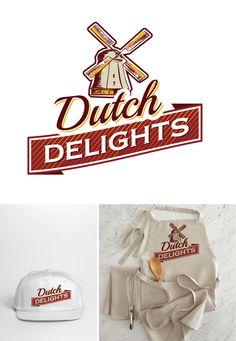 Logo design by Agi Amri #POTD99 10.29.2013 #dutch #delights #windmill