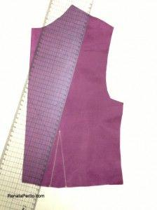 Como marcar pences do molde para o tecido