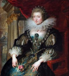 """""""Portrait of Anne of Austria (1601-1666), Queen of France"""", copy after a lost original painted c. 1620-1625, by Peter Paul Rubens (Flemish, 1577-1640)"""