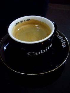My Cuban coffee.-Drinking café cubano remains a prominent social and cultural activity within Cuba as well as the Cuban exile community.