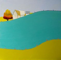 "Daily+Paintworks+-+""Rolling+Along+II""+-+Original+Fine+Art+for+Sale+-+©+Donna+Walker"