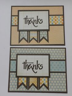 Thank you cards - Kathryns Cards: 6x6 Cutting Formula