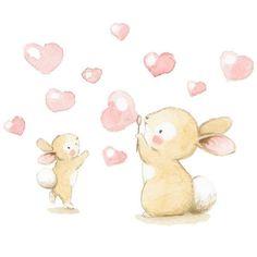 """62 Me gusta, 3 comentarios - Illustrator & muralist (@aidazamorailustracion) en Instagram: """"Ilustración perfecta para decorar la habitación de una niña! ❤ #childrensillustration #bunnylove…"""""""