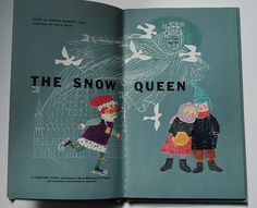 The snow queen illustrations by Jan Balet - love the crayon work