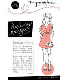 Darling Ranges Dress Sewing Pattern - @  Megan Nielsen $18
