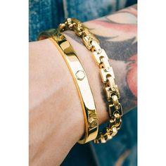 *Mister Hex Cuff Bracelet - Gold - Mister SFC - Fashion Jewelry - Fashion Accessories