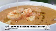David de Jorge prepara 'a todo gas' una sopa en homenaje a Ángel Nieto Robin Food, Shrimp, David, Meat, Fish Soup, Grandchildren