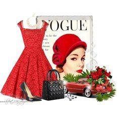 """* Cherry Red 1950""""s *"""