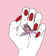 Imagem de girl power, illustration, and peach