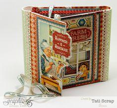 Libro de Recetas, de Tati Scrap. ¡¡Precioso!! Graphic 45, Graphic Design, Papel Scrapbook, Recipe Binders, Book Journal, Journal Ideas, Journals, Home Recipes, Diy Organization