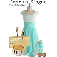 """America Singer"" by charlizard on Polyvore OH MY GOSH WAIT WHAT (in case you don't know it's from the selection series which btw i am SO COMPLETELY IN LOVE WITH!!!)"
