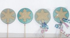 Frozen Snowflake lollipops by candycottage on Etsy, $18.00